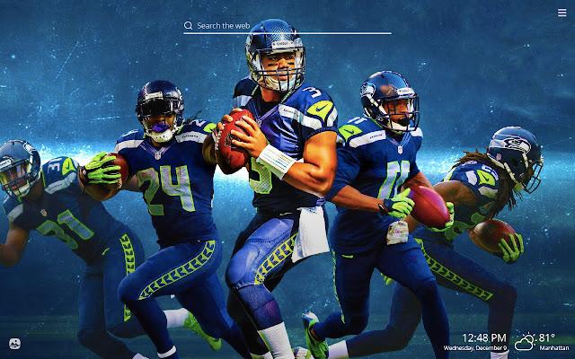 Seattle Seahawks NFL HD Wallpaper New Tab