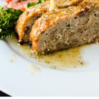 1770 House Meatloaf with Garlic Sauce.
