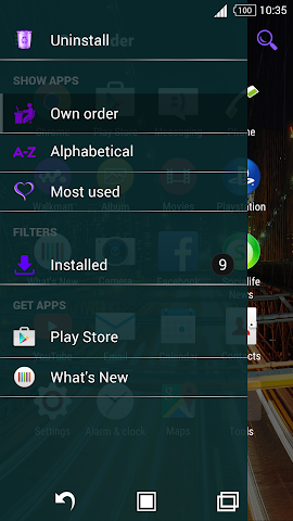 android For Xperia Theme Highway Screenshot 1
