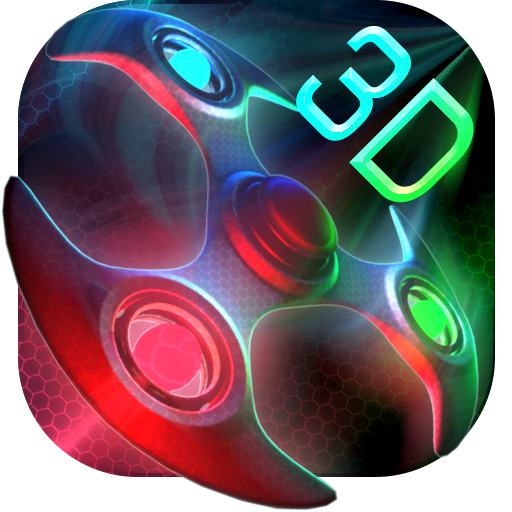 3D Neon Colors Fidget Spinner Theme