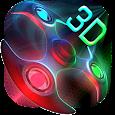3D Neon Colors Fidget Spinner Theme