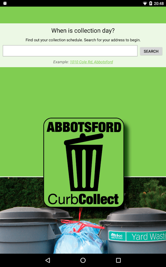 Abbotsford Curbside Collection- screenshot