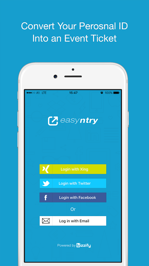 easyntry app- screenshot