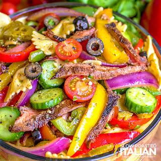 Steak Fajita Pasta Salad.