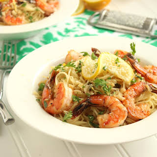 Meyer Lemon Shrimp Scampi.