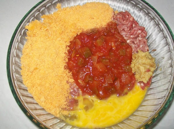 Mix the meat with the salsa,1 cup Panko, egg, yolk, salt, jalapeno pepper &...