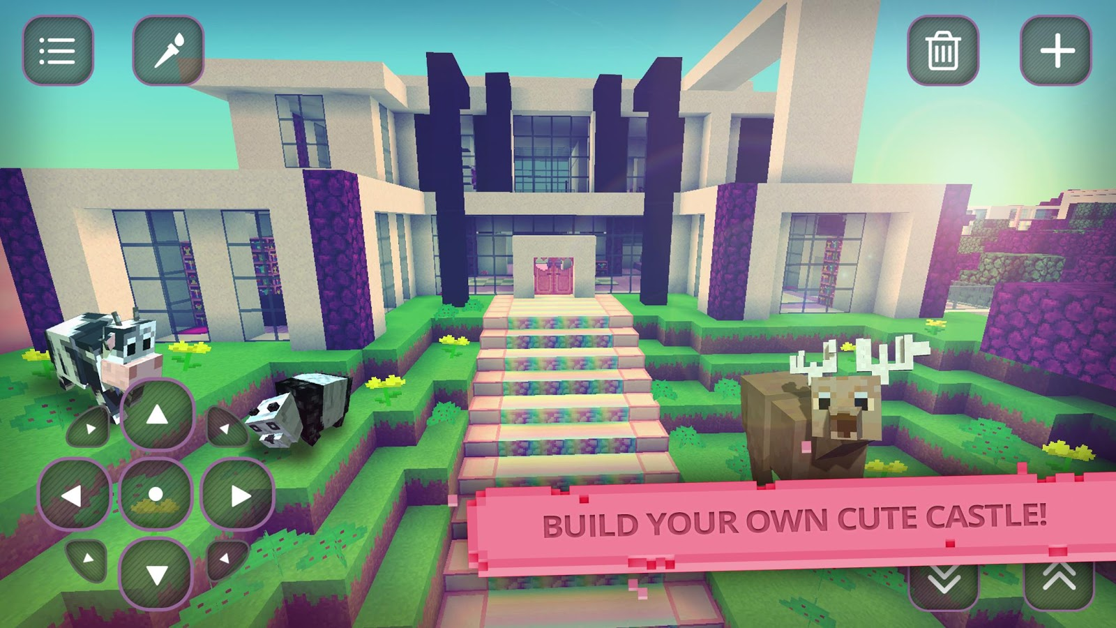 Girls craft mine exploration android apps on google play Create a house game
