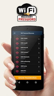 Free Wifi Password Recovery Screenshot