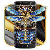 Tech dragonfly Gold keyboard skin