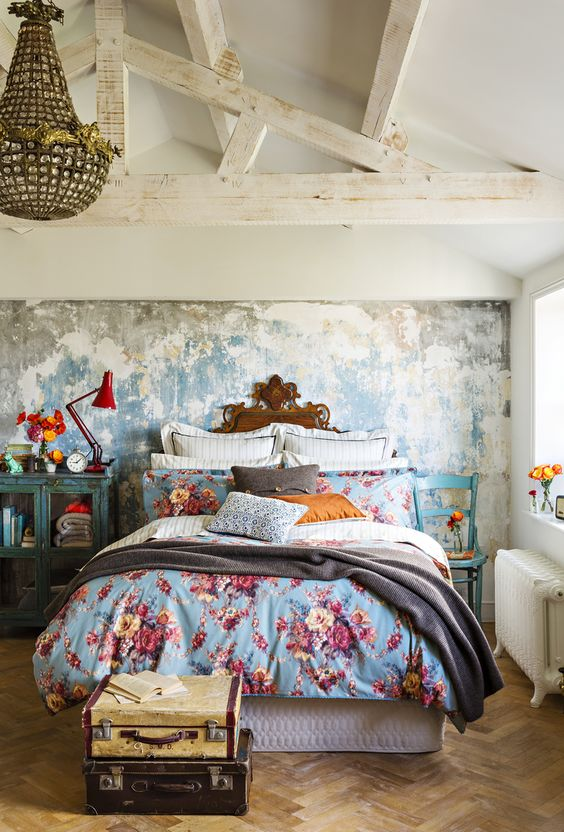 Eclectic Bedroom with Shabby Chic Style