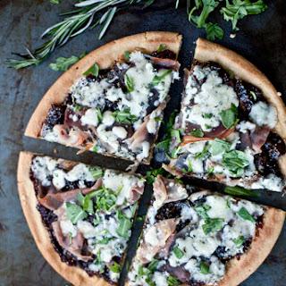 Quinoa Pizza with Prosciutto, Gorgonzola and Balsamic Fig Jam