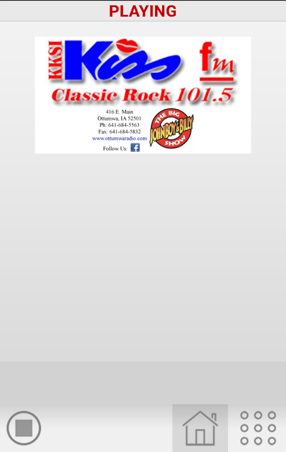 101.5 KISS FM- screenshot