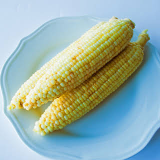 Milk Butter Boiled Corn on the Cob.