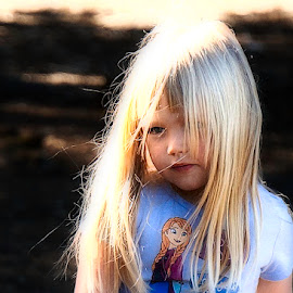 Blondie by Barbara Brock - Babies & Children Child Portraits ( long blonde hair, cute child, blond girl, blond female child, pretty young girl )
