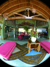 Photo: Another round of fisheye photos ... the open air lobby (pool is to my back.)