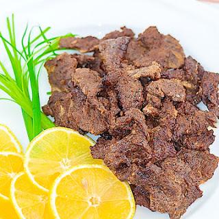 Homemade Beef Tapa.