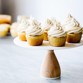 Coconut & Lilikoi (Passion Fruit) Cupcakes.