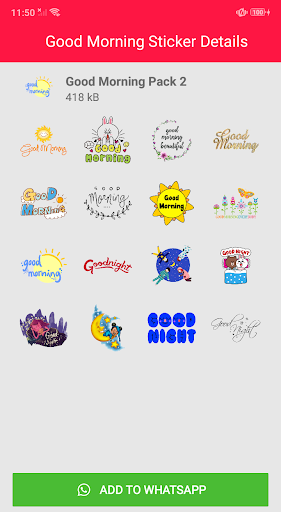 Good Morning Stickers for Whatsapp 2.0 screenshots 2