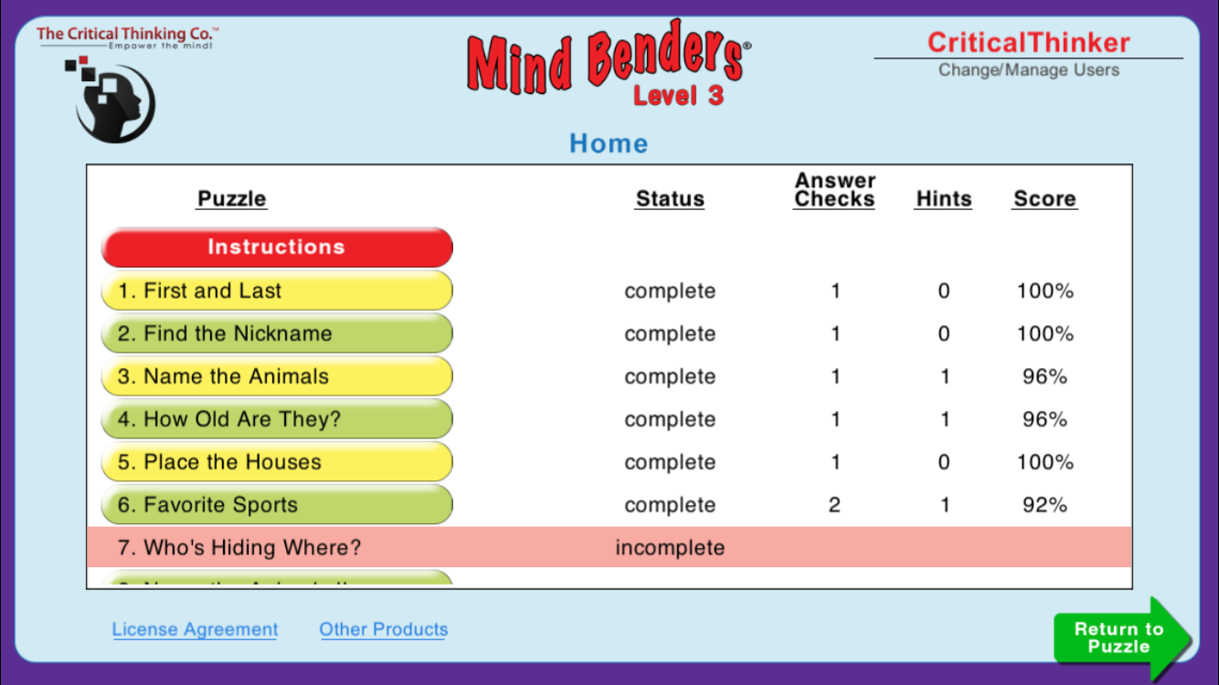 Mind Benders® Level 3- screenshot