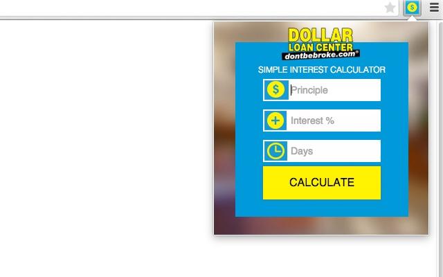 dollar loan center interest calculator chrome web store