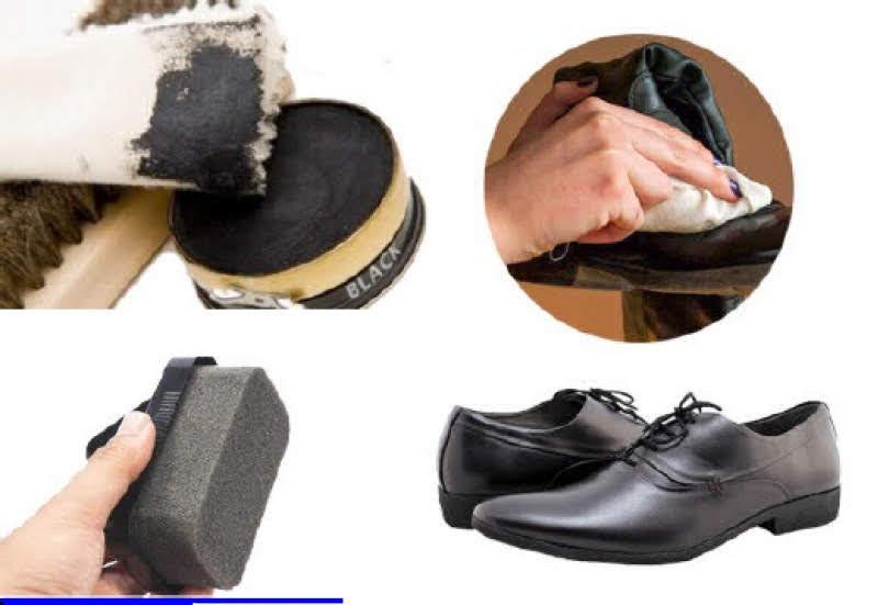 Sử dụng miếng rửa chén để vệ sinh giày da lộn