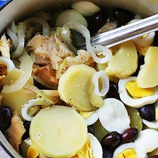 Portuguese Salt Cod Stew (Bacalhoada).