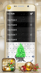 Christmas Emoji Keyboard Theme screenshot 2