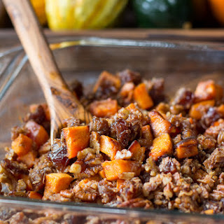 Candied Sweet Potatoes with Pecans and Dates Recipe