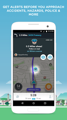 Waze - GPS, Maps & Traffic - screenshot