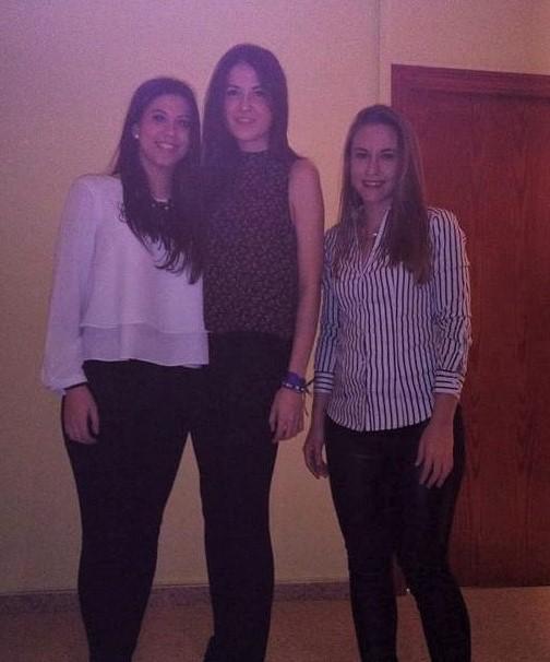 Sara Heras, Cristina Marco and Sara Marchante