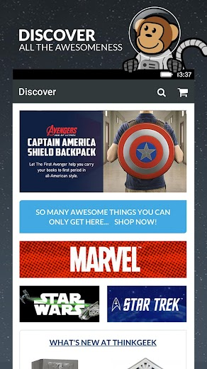 Screenshot 0 for ThinkGeek's Android app'