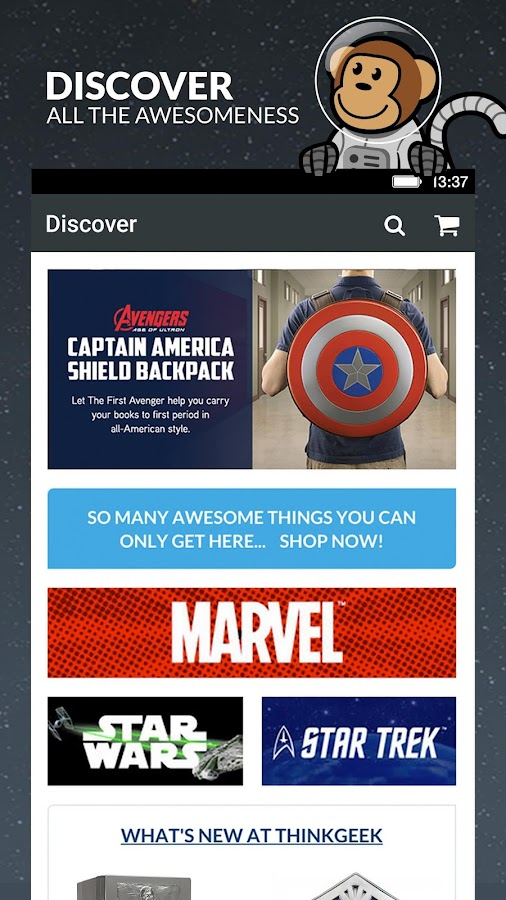 thinkgeek join in geek out android apps on google play