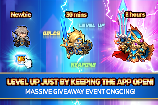 Raid the Dungeon : Idle RPG Heroes AFK or Tap Tap apkbreak screenshots 1