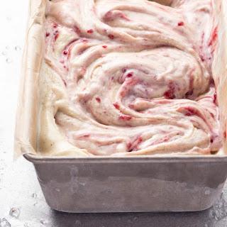 Coconut Ice Cream With Raspberry Swirl