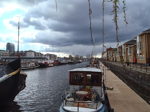 Photo: Surrey quays and the barges