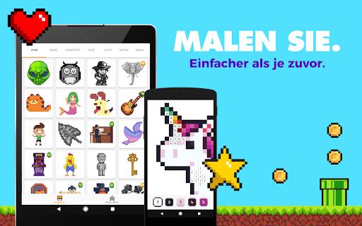 UNICORN - Malen nach Zahlen   Pixel art Malbuch screenshot 7