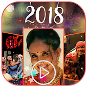 Happy New Year Video Maker 2018 - Photo Slideshow