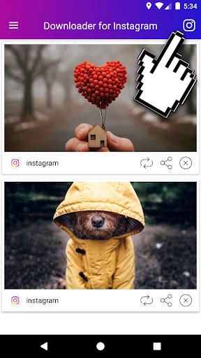 Downloader for Instagram Video & Photo 1.67 screenshots 1