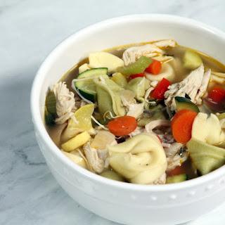 Homemade Chicken, Vegetable& TortelliniSoup.