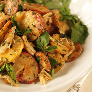 Chicken and Potato Crisp Salad with Watercress