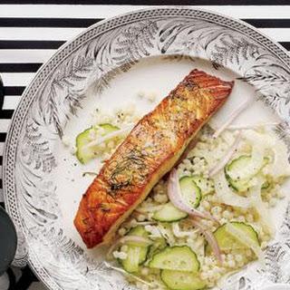 Seared Salmon with Israeli Couscous Salad Recipe
