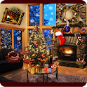 Christmas Fireplace LWP Deluxe icon