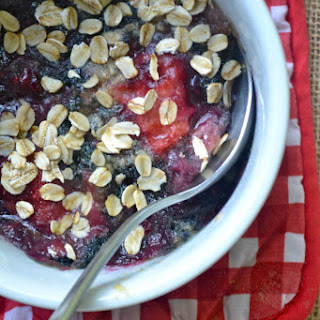 Microwave Coconut Oil Berry Crisp For One (Or Two)