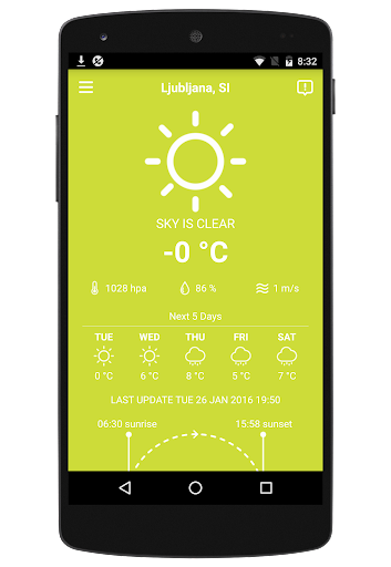 WEATHER SLOVENIA app (apk) free download for Android/PC/Windows screenshot