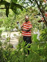 Photo: Mohammed first test spary in flower garden