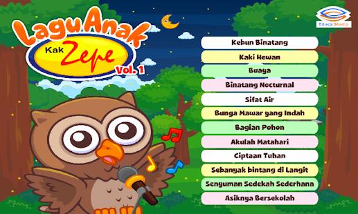 Lagu Anak Indonesia Kak Zepe 1 - náhled