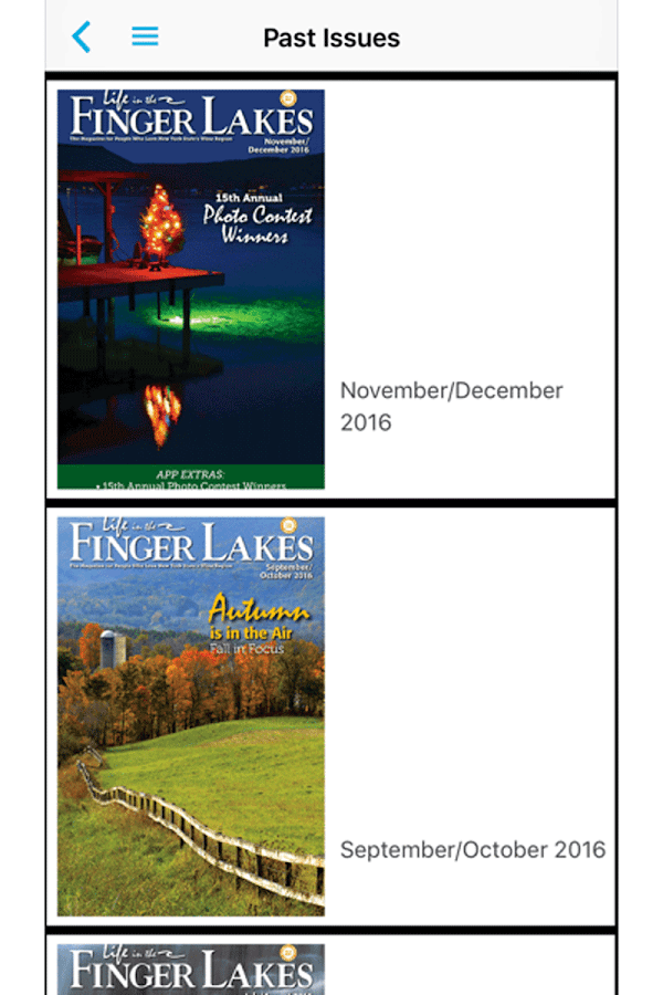 Life in the Finger Lakes Mag- screenshot