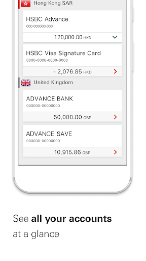 Screenshot for HSBC HK Mobile Banking in Hong Kong Play Store