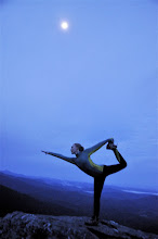 Photo: Yoga scene from the summit at Underhill State Park