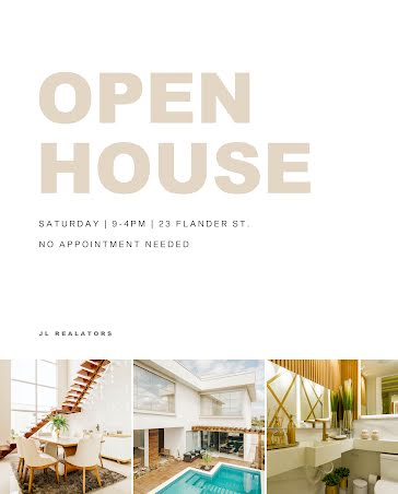 Flander Open House - Poster template